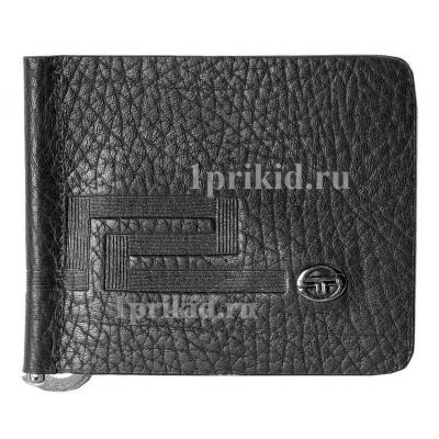 Зажим для денег SERGIO TACCHINI натуральная кожа цвет чёрный 10x8см/0187