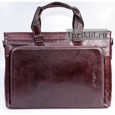 Сумка портфель натуральная кожа 40x7x29см/11855 цвет коричневый