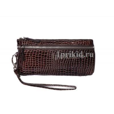 Кошелёк женский коричневый кожзаменитель 19x10см/1306