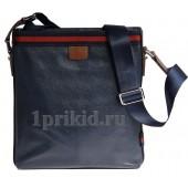 Мужская сумка натуральная кожа 21x5x26см/2088 цвет синий