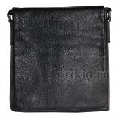 Мужская сумка StiLUX натуральная кожа 23x6x26см/2206 цвет чёрный