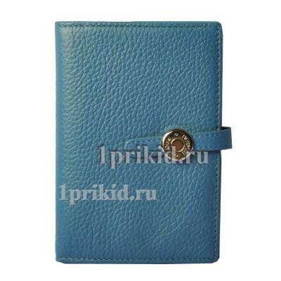 Обложка для прав Hermes натуральная кожа цвет синий 10x14см/2398