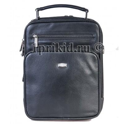 Мужская сумка Bolinni натуральная кожа 22x8x28см/25460 цвет чёрный