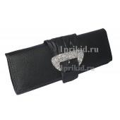 Клатч сумка кожзаменитель цвет чёрный 28x4x11см/3225