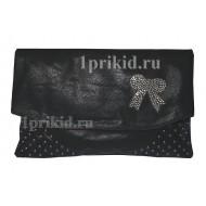 Клатч сумка A кожзаменитель цвет чёрный 32x2x21см/3255