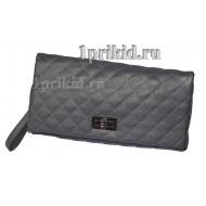 Клатч сумка A кожзаменитель цвет серый 27x3x15см/3269