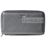 Клатч Armani мужской чёрный натуральная кожа 21x4x12см/3728