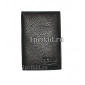 Обложка X.D.L.D натуральная кожа цвет чёрный 10x14см/4501