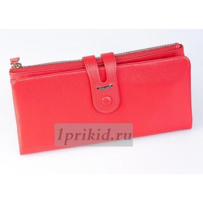 LISON KAOBERG кошелек женский красный натуральная кожа 19x10см/4514