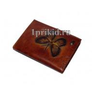 Обложка WANLIMA натуральная кожа цвет коричневый 9x14см/5456