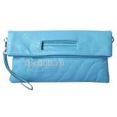 Клатч сумка кожзаменитель цвет бирюзовый 30x2x15см/6166