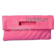 Клатч сумка кожзаменитель цвет розовый 30x2x15см/6266
