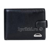 Мужской кошелёк Braun Buffel мужской чёрный натуральная кожа 12x10см/6523