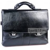 Портфель мужской натуральная кожа 36x7x29см/65485 цвет чёрный