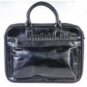 Сумка портфель мужская BOLINNI кожзаменитель 36x5x27см/80235 цвет чёрный