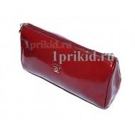 Обложка CHANEL натуральная кожа цвет красный 10x14см/7012