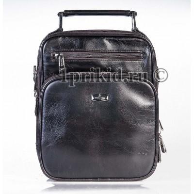 Мужская сумка барсетка Bolinni кожзаменитель цвет коричневый 18x6x23см/97650