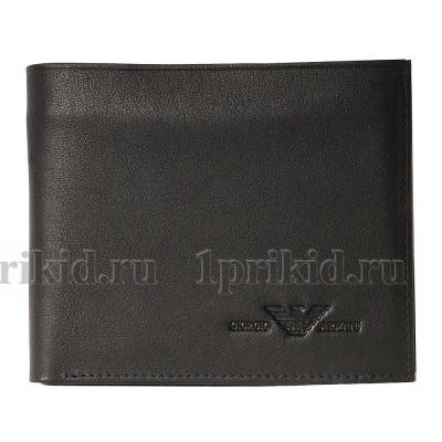 ARMANI (армани) кошелек мужской чёрный натуральная кожа 11x9см/51337