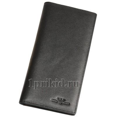 ARMANI кошелек мужской чёрный натуральная кожа 19x9см/43565