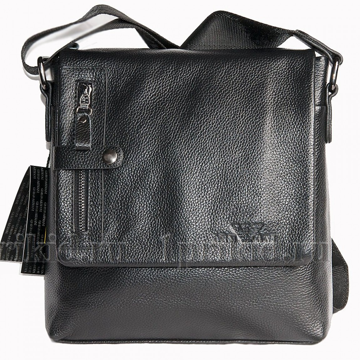 0cb1557bb3a0 ARMANI(Армани) сумка мужская натуральная кожа 24x7x25см/45280 цвет чёрный  ...