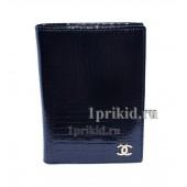 Обложка CHANEL C натуральная кожа цвет чёрный 9x14см/0071