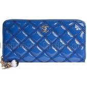 CHANEL(Шанель) кошелек модный женский синий натуральная кожа 20x2x10см/48921