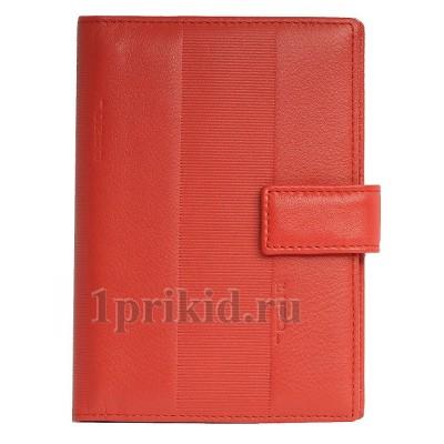 FENDI обложка на документы натуральная кожа цвет красный 10x14см/24566