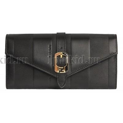 348f9bed6da0 FENDI кошелек женский чёрный натуральная кожа 19x9см/24563 купить в ...