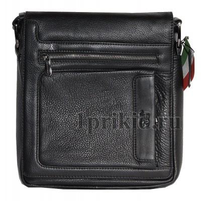 JANCARLO BARETTI мужская сумка натуральная кожа 22x6x27см/2207 цвет чёрный