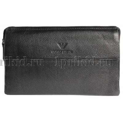 Клатч барсетка ARMANI натуральная кожа цвет чёрный 23x4x13см/89456