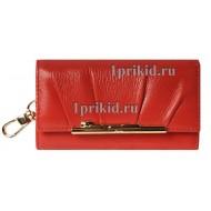 Ключница CARTIER натуральная кожа цвет красный 7x12см/2792