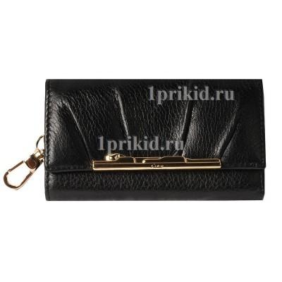 Ключница CARTIER натуральная кожа цвет чёрный 7x12см/2793