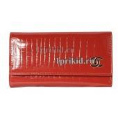 Ключница Chanel натуральная кожа цвет красный 7x12см/4451