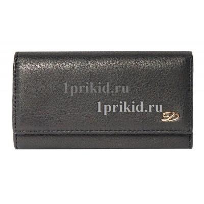 Ключница S.T.DUPONT натуральная кожа цвет чёрный 7x12см/0872