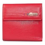 Кошелёк женский натуральная кожа цвет красный 10x10см/26540