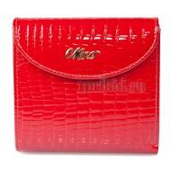 Кошелёк женский натуральная кожа цвет красный 10x10см/43450