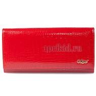 Косметичка лаковая красная MORO натуральная кожа цвет красный 19x6x12см/10302
