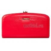 Женский кошелёк натуральная кожа 19x10см/647238 цвет красный