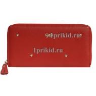 Кошелёк ANYA HINDMARGH женский красный натуральная кожа 19x10см/4535