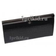Кошелёк BODENSCHATZ женский чёрный натуральная кожа 19x10см/34263