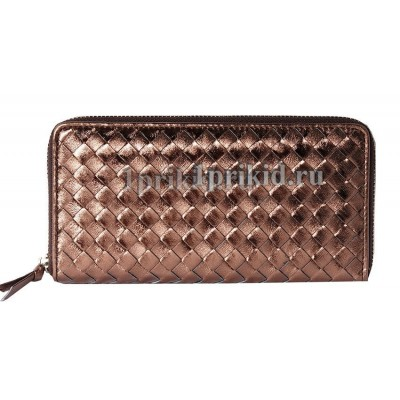 Кошелёк BOTTEGA VENETA женский бронзовый натуральная кожа 20x10см/9944