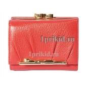 Кошелёк Cartier B женский красный натуральная кожа 10x8см/2783