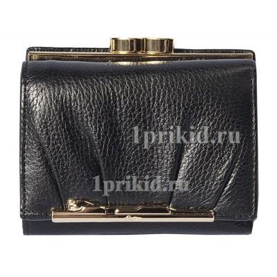 Кошелёк Cartier женский чёрный натуральная кожа 10x8см/2784
