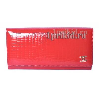 Кошелёк CHANEL C Red женский красный натуральная кожа 19x9см/001