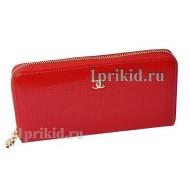 Кошелёк CHANEL женский красный натуральная кожа 20x10см/4450