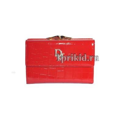Кошелёк Christian Dior A женский красный натуральная кожа 13x9см/5429