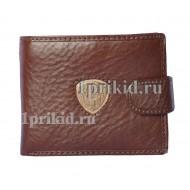 Кошелёк Cosset мужской коричневый натуральная кожа 11x9см/1432