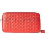 Кошелек GUCCI женский красный натуральная кожа 20x4x10см/89545