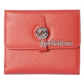 Кошелёк Hermes женский красный натуральная кожа 10x11см/03513