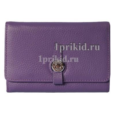 Кошелёк HERMES женский фиолетовый натуральная кожа 11x15см/5476